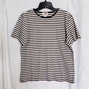 Talbots Striped T Shirt Size Large